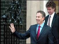 By the time of the second ceasefire Tony Blair was in Downing Street