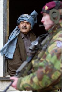 UK troops training in Salisbury Plain with Afghan civilians