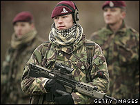 UK troops training in Salisbury Plain