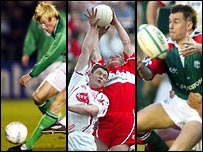 Football, GAA and rugby