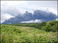 Smoke from the fire in Paddock Wood (photo by David Tamblyn)