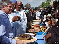 Paul Wolfowitz visiting a market in Nigeria last month