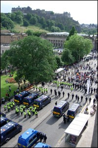 An aerial view of Princes Street