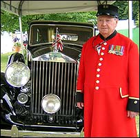 Cheslea pensioner Albert Leach was his driver