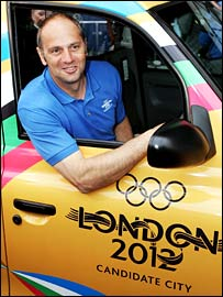 Sir Steve Regrave in a London 2012 taxi