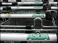 Asda supermarket trolleys