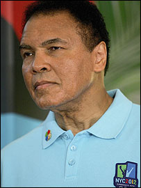 Muhammad Ali is in Singapore to support the New York bid