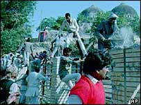Hindu protesters in 1990