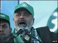Ismail Haniya in Gaza