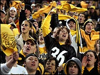 Steeler fans go crazy as their team reach the season finale