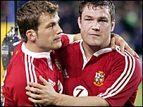 Mark Cueto and skipper Gordon Bulloch