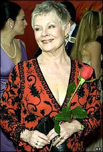 Dame Judi Dench attending the Oscars