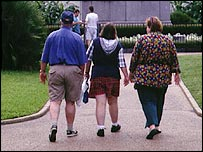 An overweight family