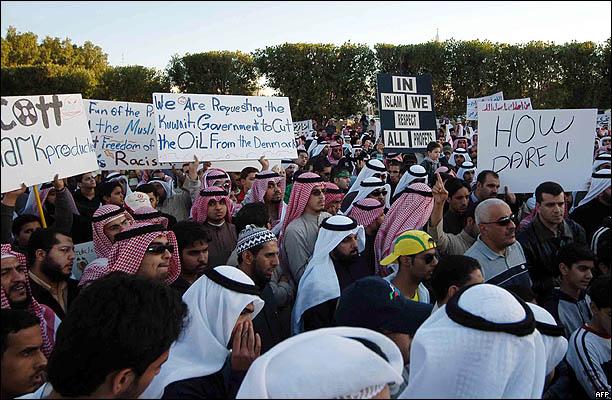 غضب عربي على الدنمارك بالصور