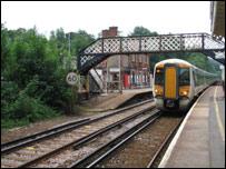 Tren en Inglaterra