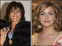 Dame Shirley Bassey and Charlotte Church