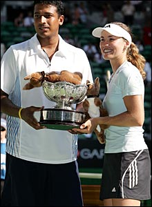 Mahesh Bhupathi and Martina Hingis