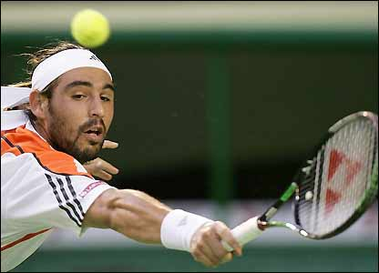 Marcos Baghdatis wins the first set