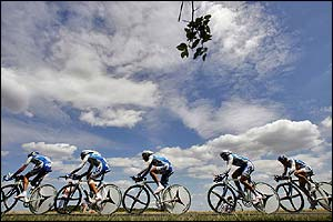 French team AG2R pass through the countryside
