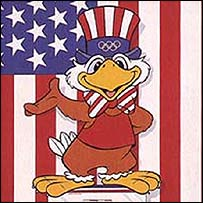 Sam the eagle, mascot of the LA Olympics