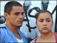 Jesse Garcia as Carlos. left, and Emily Rios as Magdalena in Quinceaera