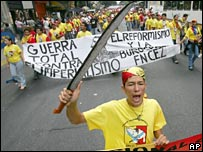 A demonstration at the World Social Forum