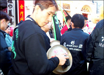 Drummers in the street parade