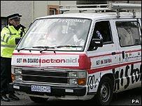 Police checking van