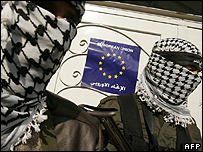 Gunmen at the Gaza City office of the EU