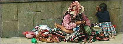 Mujer en las calles de Bolivia. Foto de Homero Gregorio Mendizábal Reyna