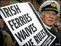 Irish Ferries protest