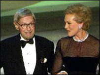 Ernest Lehman with Julie Andrews in 2001