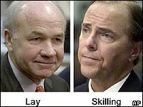The two defendants, Ken Lay and Jeff Skilling