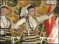 Macedonian folk dance group