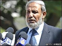 Otro dirigente de Hamas, Mahmud Zahar.