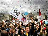 Britain celebrated London's successful bid in July 2005