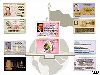Egyptian envoy Ihab al-Sherif's ID cards posted on a website