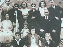 Diana Elias and family members, who were later interned