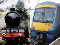 Steam engine and modern c2c train