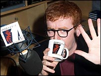 Chris Evans at BBC Radio 1 in 1992
