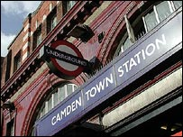 Camden Tube station sign