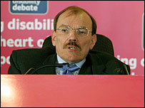 Chairman of the Disability Rights Commission, Bert Massie