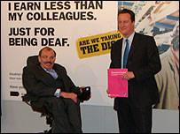 Bert Massie, left, with Tory leader David Cameron