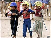 Child camel jockeys in Qatar
