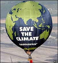 Save the climate hot air balloon