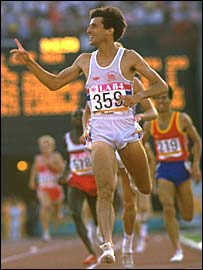 Sebastian Coe sprints to 1500m Olympic gold in Los Angeles