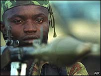 Congolese rebel soldier