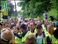 Marchers in Auchterarder
