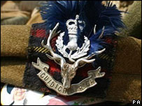 Crest of the 1st Battalion The Highlanders
