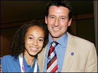 Amber Charles and bid chairman Lord Coe